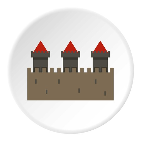 Medieval fortification icon circle Banque d'images