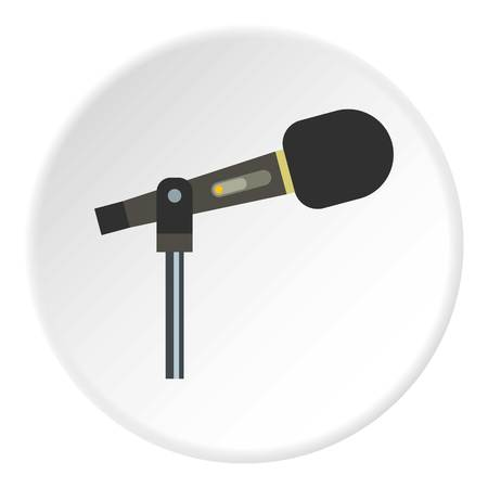 Sound recording equipment icon circle