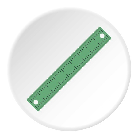 Ruler, rectangular shape icon circle Фото со стока