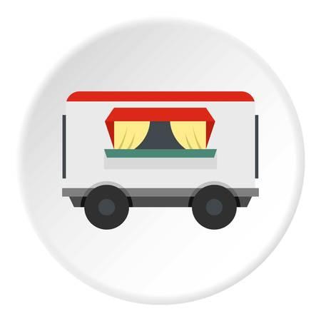 Street food trailer icon circle