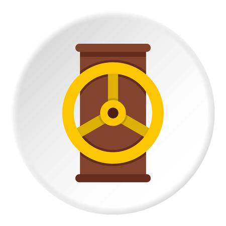 Electric motor icon circle