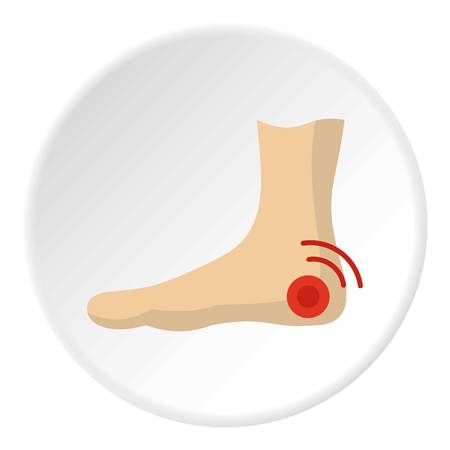 Foot heel icon circle Stock Photo