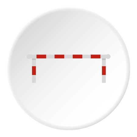 Striped barrier icon circle