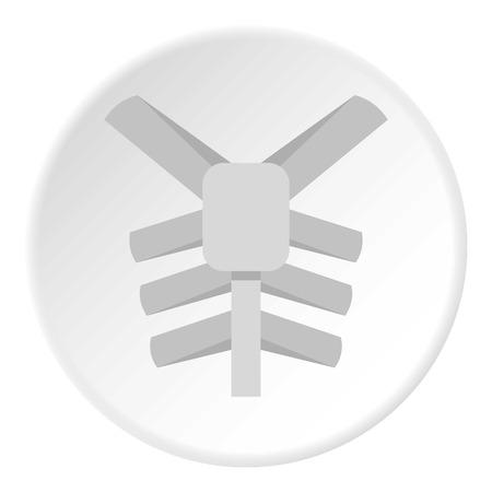 Human thorax icon circle