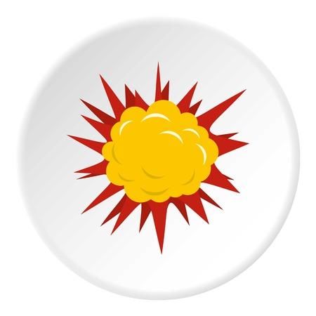 Terrible explosion icon circle