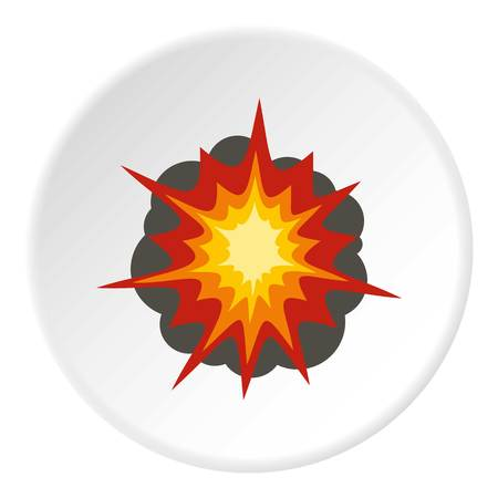 Fire explosion icon circle