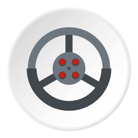 Steering wheel icon circle