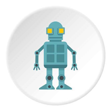 Android robot icon circle