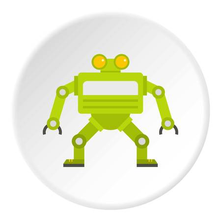 Green automatic mechanism icon circle