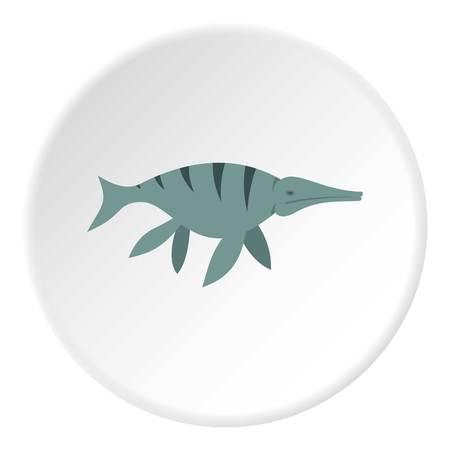 Ichthyosaur dinosaur icon circle Stok Fotoğraf