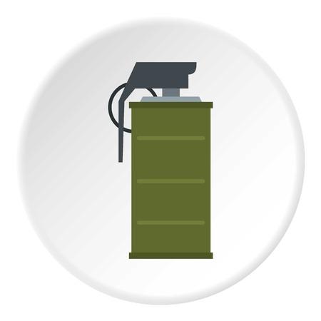 Smoke grenade icon circle Reklamní fotografie