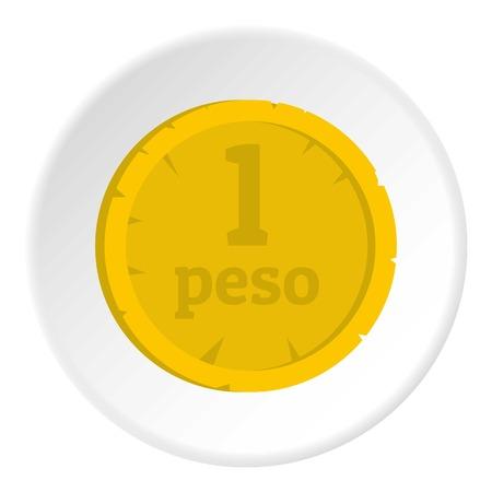 Peso icon circle Stock Photo
