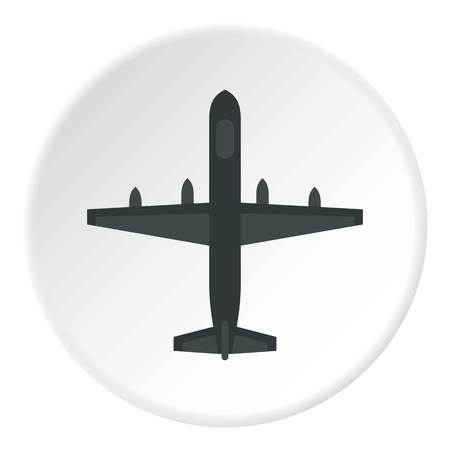 Large aircraft with missiles icon circle Stock Photo