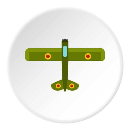 Army biplane icon circle