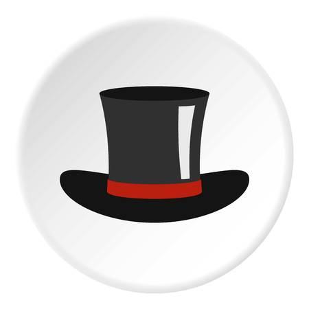 Silk hat icon circle