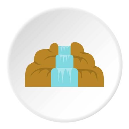 Waterfall icon circle Foto de archivo - 110437392