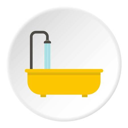 Bathroom icon circle Banco de Imagens - 110437401