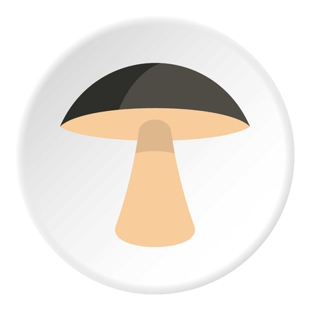 Birch mushroom icon circle