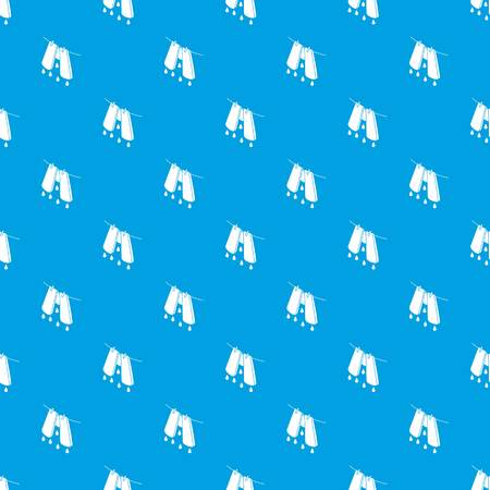 Pants drying pattern vector seamless blue repeat for any use