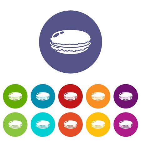 Macaroons icon. Simple illustration of macaroons vector icon for web