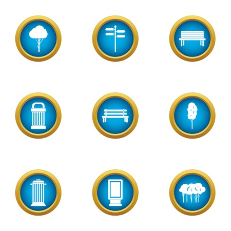 Imagery icons set. Flat set of 9 imagery vector icons for web isolated on white background
