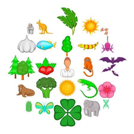 Instinct icons set. Cartoon set of 25 instinct vector icons for web isolated on white background Ilustração