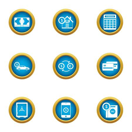 Opulence icons set. Flat set of 9 opulence vector icons for web isolated on white background