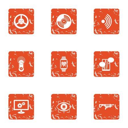 Operative intervention icons set. Grunge set of 9 operative intervention vector icons for web isolated on white background Archivio Fotografico - 130232122
