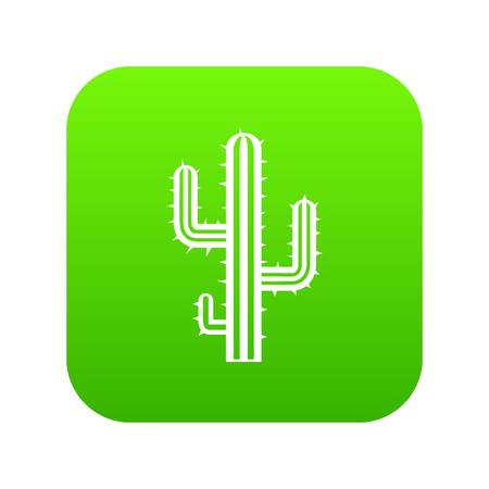 Cactus icon digital green for any design isolated on white vector illustration Illustration