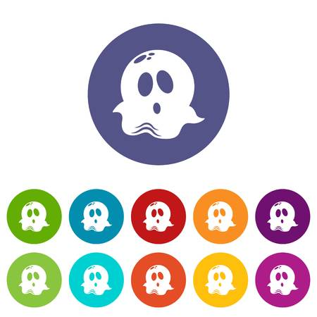 Ghost icon. Simple illustration of ghost vector icon for web Ilustrace