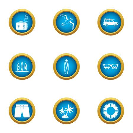 Visitor icons set. Flat set of 9 visitor vector icons for web isolated on white background Illustration
