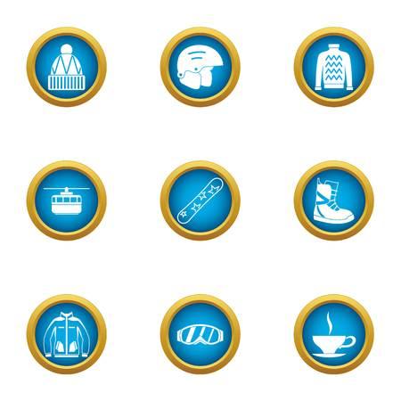 Coat icons set. Flat set of 9 coat vector icons for web isolated on white background