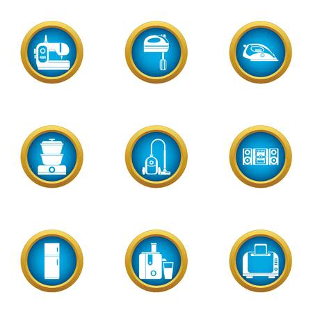 Raiment icons set. Flat set of 9 raiment vector icons for web isolated on white background