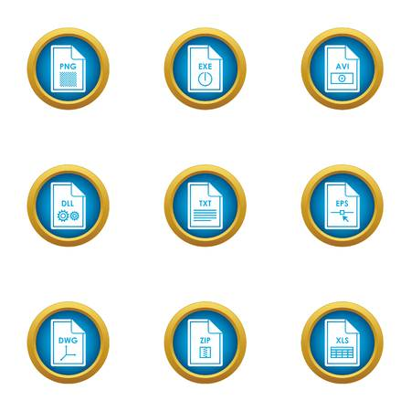 Expansion icons set. Flat set of 9 expansion vector icons for web isolated on white background
