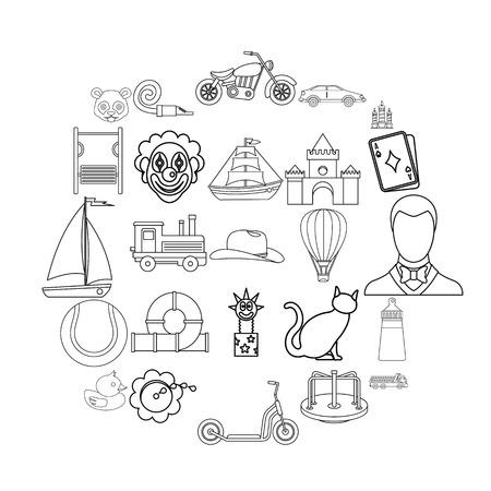 Tenderling icons set. Outline set of 25 tenderling vector icons for web isolated on white background Stock Illustratie