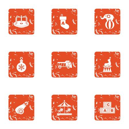 Occasion icons set. Grunge set of 9 occasion vector icons for web isolated on white background 일러스트