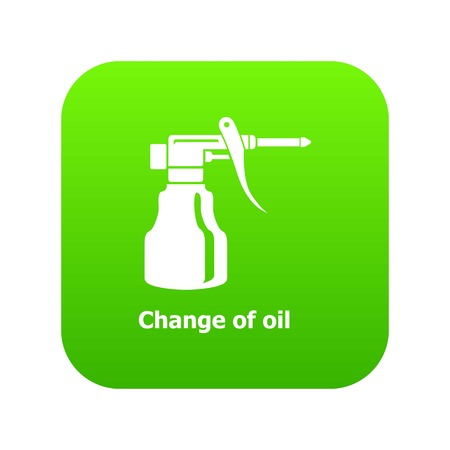 Change oil icon green vector