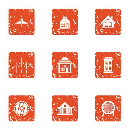 Disconnect icons set. Grunge set of 9 disconnect vector icons for web isolated on white background