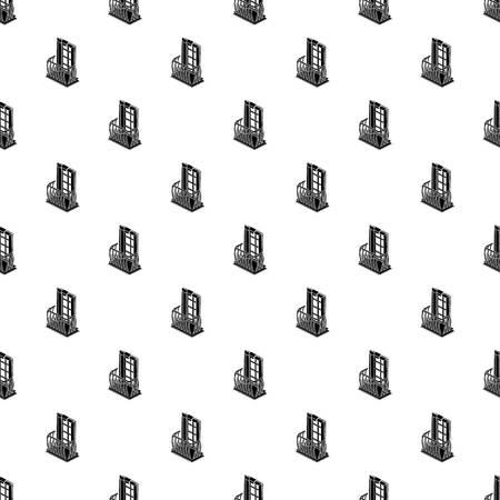 Retro balcony pattern vector seamless  イラスト・ベクター素材