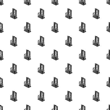 Retro balcony pattern vector seamless Illustration