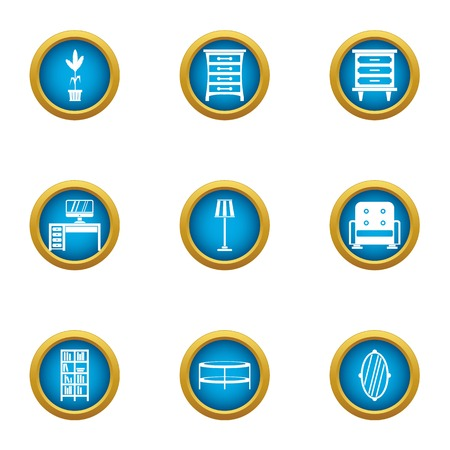 Working corner icons set. Flat set of 9 working corner vector icons for web isolated on white background