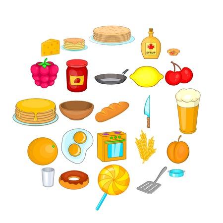 Bakery icons set. Cartoon set of 25 bakery vector icons for web isolated on white background Illustration