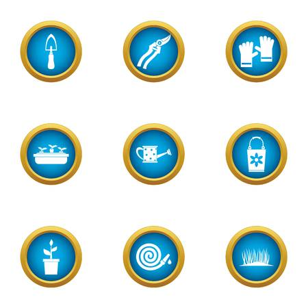 Frontage icons set. Flat set of 9 frontage vector icons for web isolated on white background Illusztráció