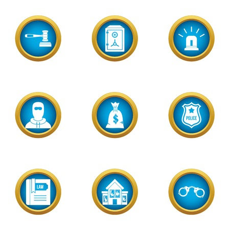 Dibs icons set. Flat set of 9 dibs vector icons for web isolated on white background