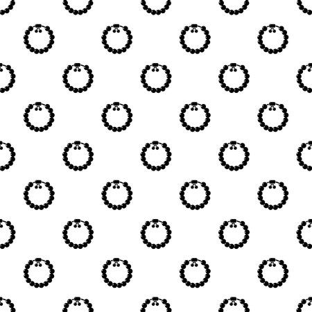 Charming gemstone bracelet pattern vector seamless