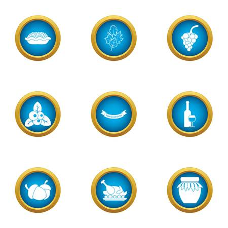 Heyday icons set. Flat set of 9 heyday vector icons for web isolated on white background