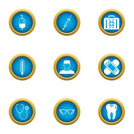 Elixir icons set. Flat set of 9 elixir vector icons for web isolated on white background