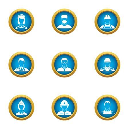Discrete icons set, flat style
