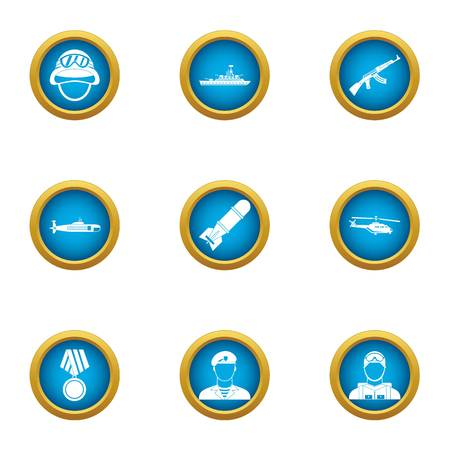 Feat icons set, flat style
