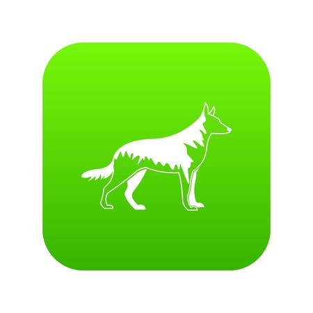 Shepherd dog icon digital green for any design isolated on white vector illustration
